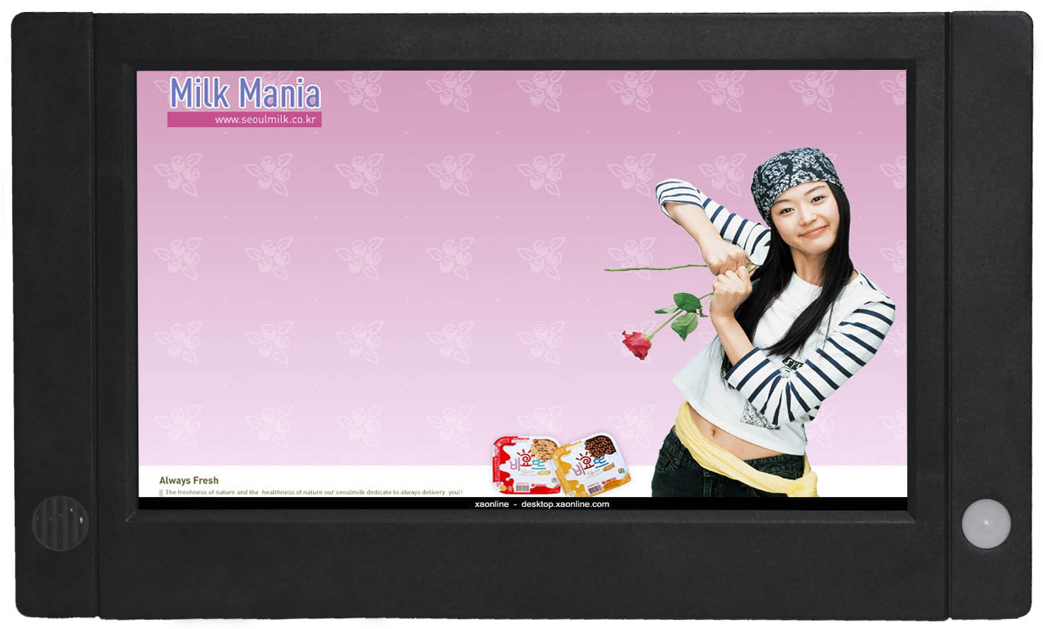 Touch Button LCD Advertising Player